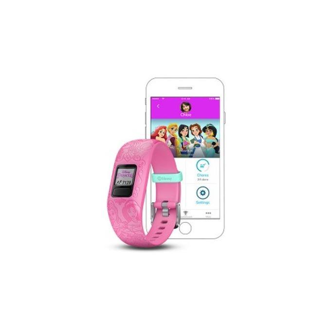 Смарт гривна Garmin vívofit® jr. 2, активити тракер за деца, 88x88 pix. дисплей, Bluetooth, водоустойчива, розов(Princess) image