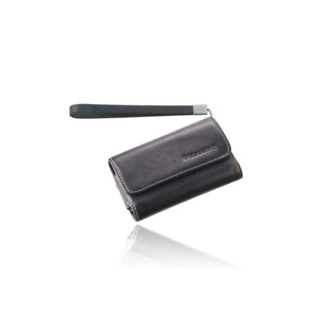 Калъф за Blackberry, джоб, еко кожа, Blackberry Leather Case, черен image
