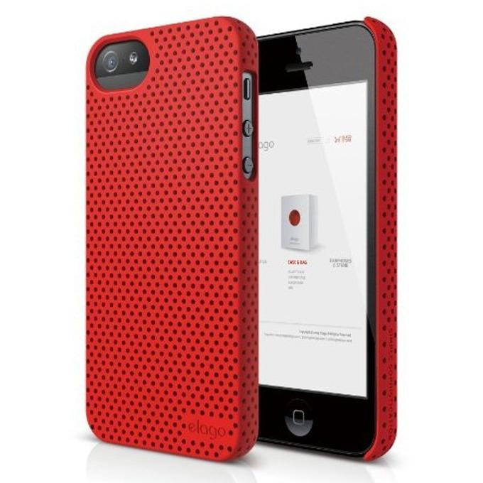 Поликарбонатов протектор Elago S5 Breathe, за iPhone 5, iPhone 5S, червен image
