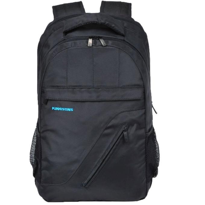 "Раница за лаптоп Kingsons KS6141W-B, до 16.1"" (40.89 cm), водоустойчева, черна image"