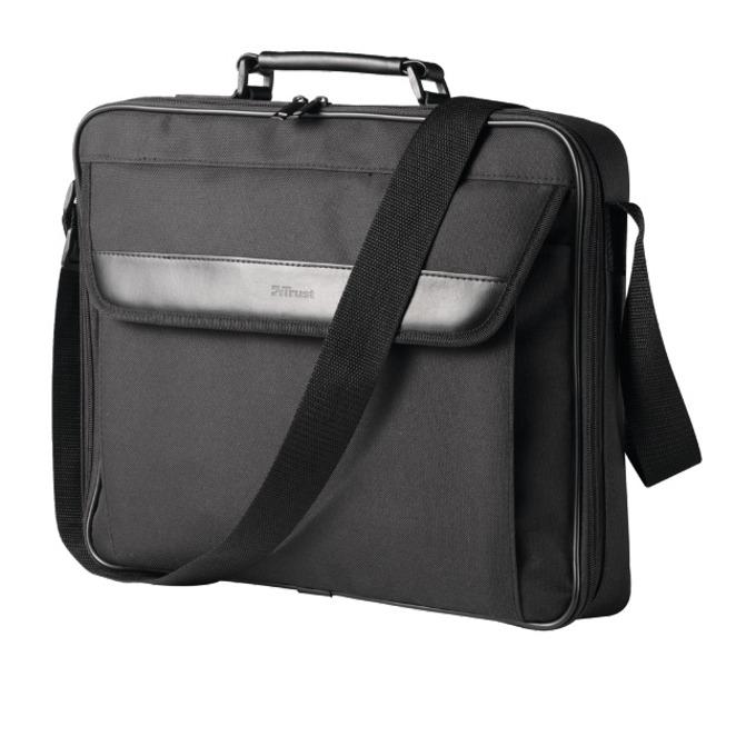 "Чанта за лаптоп Trust Atlanta Carry Bag за лаптопи до 16"" (40.64 cm), черна image"