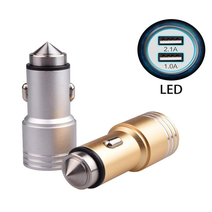 Зарядно устройство за кола Kingleen QL-C906 USB, без кабел, 12V-24V, 2x USB (женски), метално image