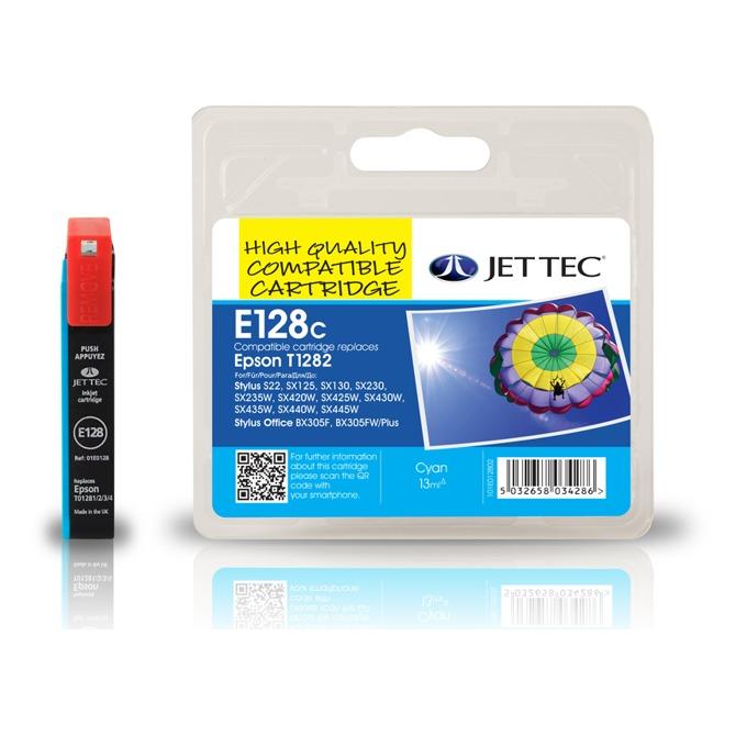 Глава за Epson T1282 - Cyan - Неоригинална - Jet Tec - Заб.: 3.5 ml image
