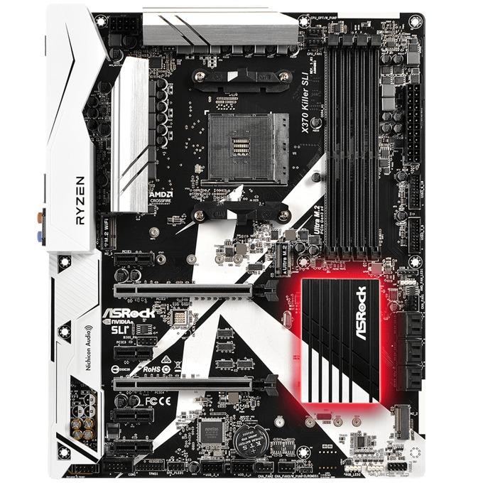 Дънна платка ASRock X370 Killer SLI, X370, AM4, DDR4, PCI-E(HDMI)(CFX&SLI), 6x SATA 6Gb/s, 1x Ultra M.2, 1x M.2 Socket, 1x USB 3.0 (Type-C), ATX image