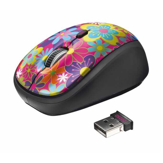 Мишка TRUST Yvi Flower Power, оптична(1600dpi), безжична, USB image