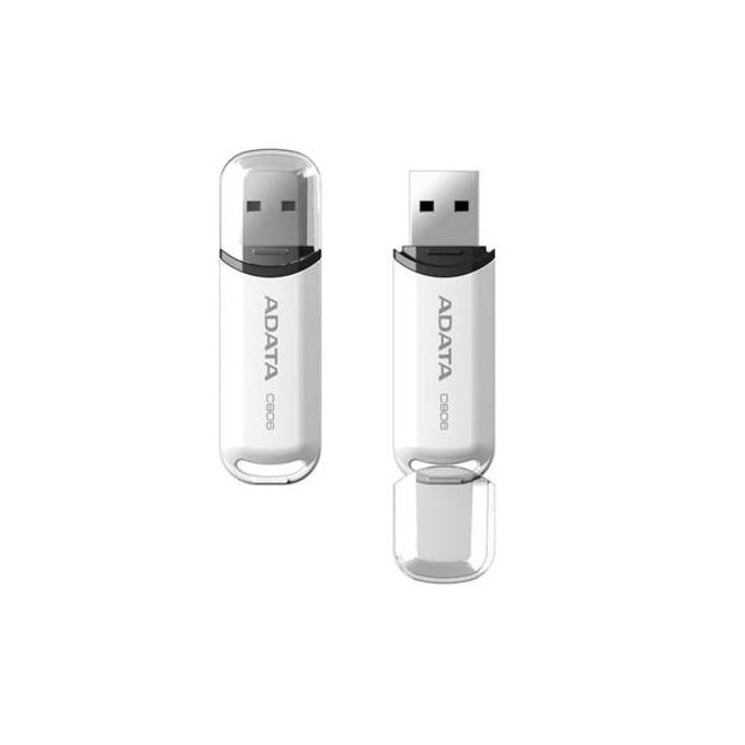 Памет 32GB USB Flash Drive, Adata C906, USB 2.0, бялa image