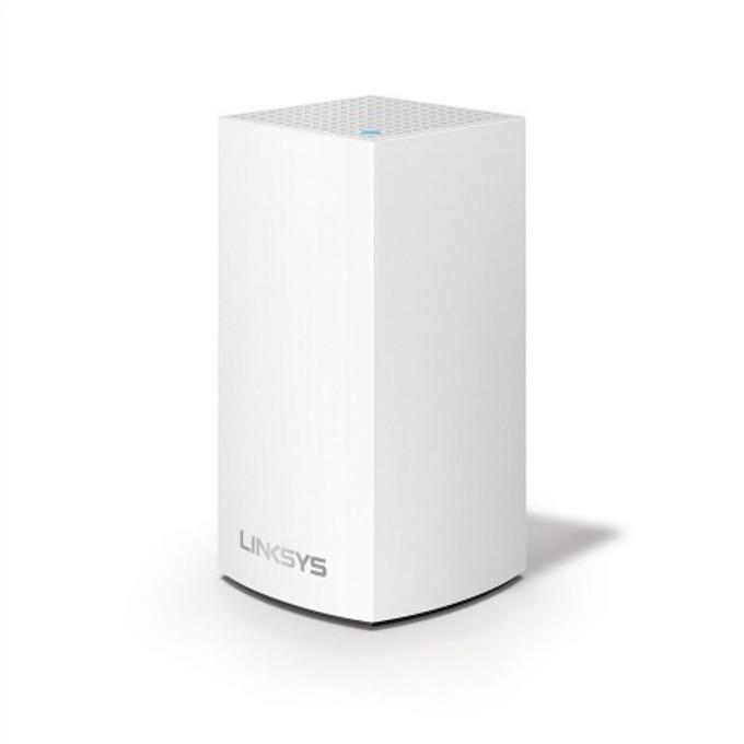 Wi-Fi система(1 бр.) Linksys Velop VLP0101, 1300Mbps, 2.4Ghz(400Mbps) + 5GHz(867Mbps), Wireless AC, 1x LAN, 1x WAN, 3x вътрешни антени, гласов контрол image