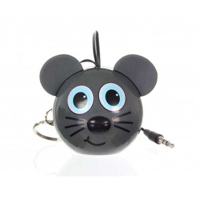 Тонколона KitSound Mini Buddy Mouse, 1.0, 2W, USB, сива, вградена Li-Ion батерия image