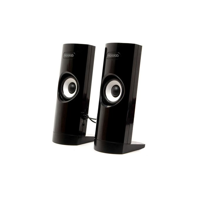 Тонколона Microlab B18, 2.0, 3W, 3,5mm jack stereo, черна, жак за слушалки  image