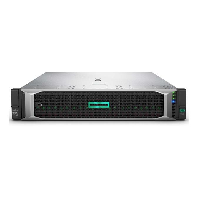 Сървър ProLiant DL380 G10 (SOLUDL380-004), 2x осемядрен Intel Xeon-Silver 4110 2.1GHz, 16GB RDIMM & 3x 16GB 2Rx8 PC4, 3x 1.2TB SAS HDD & 2x 240GB SATA SSD, DP, 4x 1GbE, 1x Micro SD, 5x USB 3.0, 2x 500W захранване image