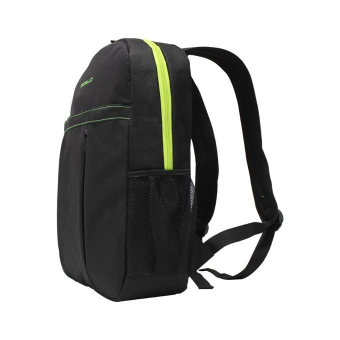"Раница за лаптоп Dicallo LLB102015BG, до 15.6"" (39.60cm), полиестер, черна-зелена image"