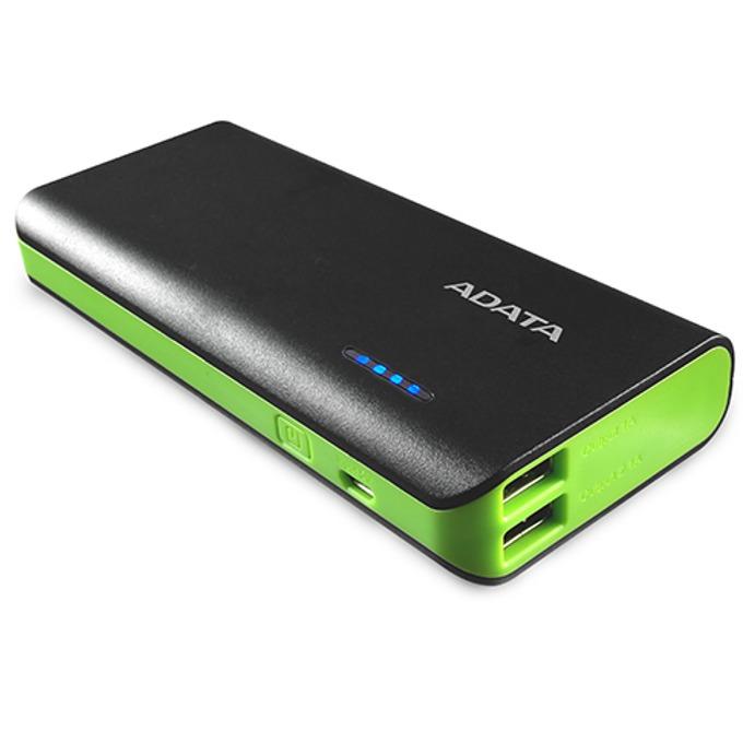 Външна батерия/power bank/ A-Data PT100, 10000mAh, черна image