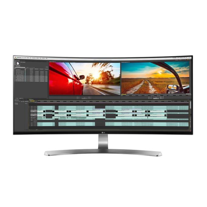 """Монитор 34"""" (86.36 cm) LG 34UC98-W, IPS панел, WQHD, 5ms, 5 000 000:1, 300 cd/m2, DP, HDMI image"""