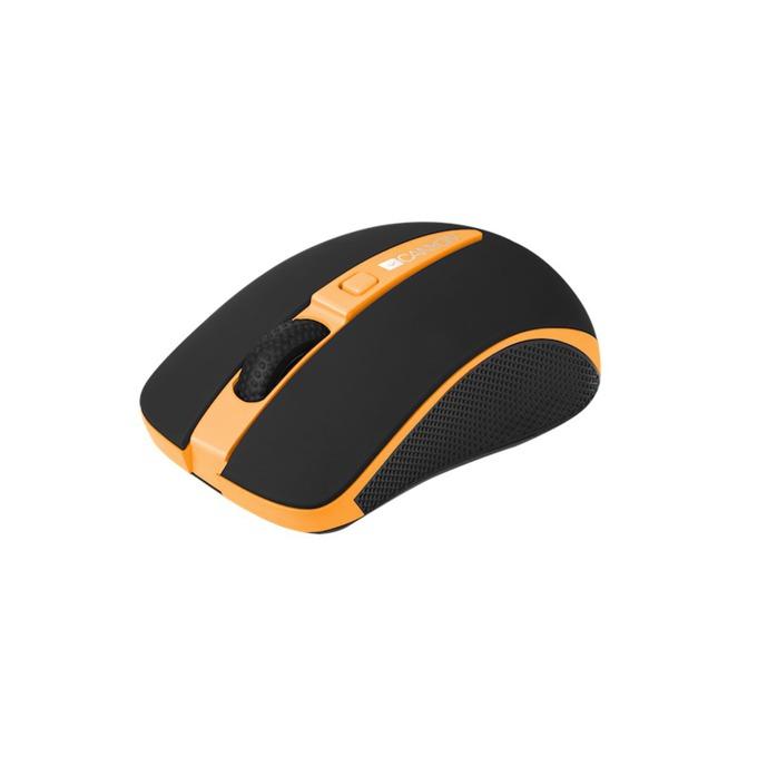 Мишка Canyon CNS-CMSW6O, безжична, оптична (1600dpi), черна/оранжева, USB  image