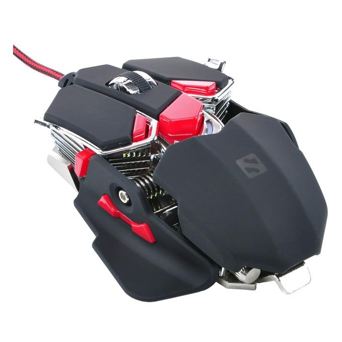 Мишка Sandberg Blast Mouse, оптична (4000 dpi), USB, черна, 10 програмируеми бутона, Multi-color LED подсветка image