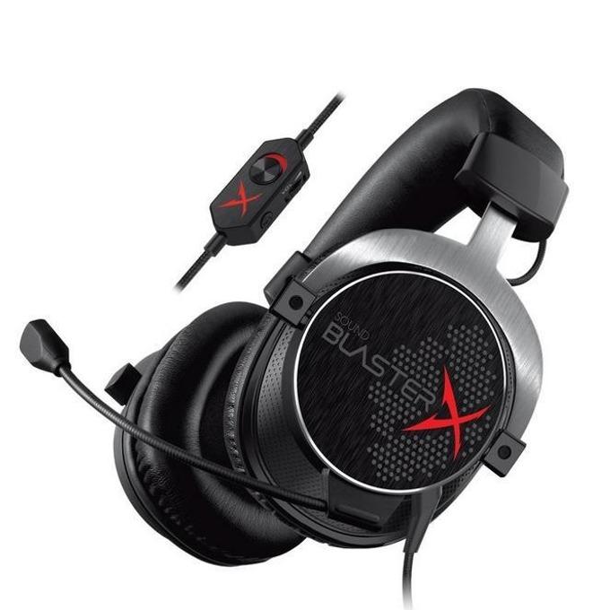 Слушалки Creative SoundblasterX H5, микрофон, гейминг, контрол на звука, 40mm размер на говорители, AUX, черни image