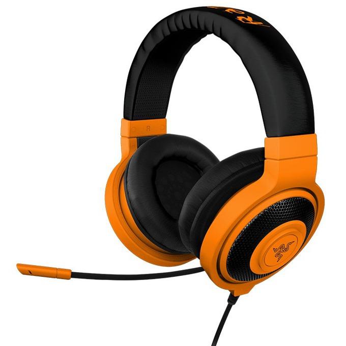 Слушалки Razer Kraken Pro Neon Orange, микрофон, гейминг, бързи бутони, оранжеви image