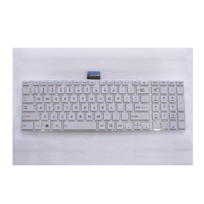 Клавиатура за Toshiba Satellite C850, съвместима с C855/L850/L850D, White, US с КИРИЛИЦА image