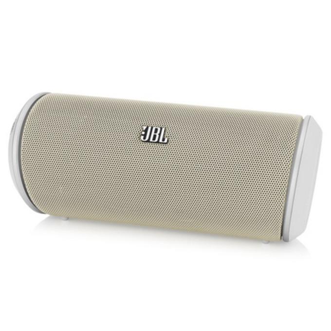 Тонколона JBL Flip, 2.0, безжична, 10W RMS, 3.5mm jack/Bluetooth, бяла, микрофон, до 5 часа работа image