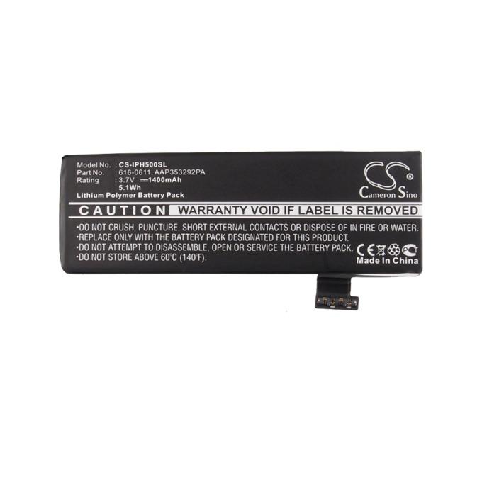 Батерия (заместител) за телефон Apple iPhone 5, 3.7V/1400 mAh  image