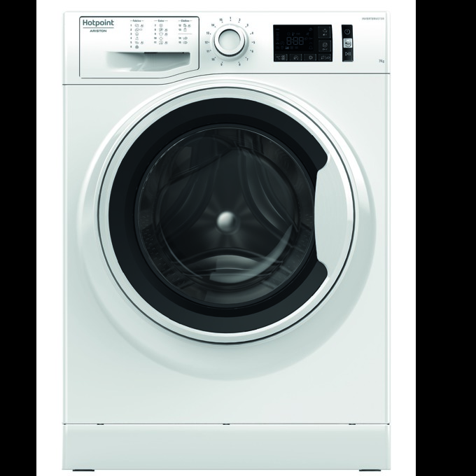 Перална машина Hotpoint-Ariston NM11 825, клас А+++, 8 кг. капацитет, 1200 оборота в минута, 15 програми, свободностояща, 60 cm. ширина, ниво на шум 81dB, бяла image