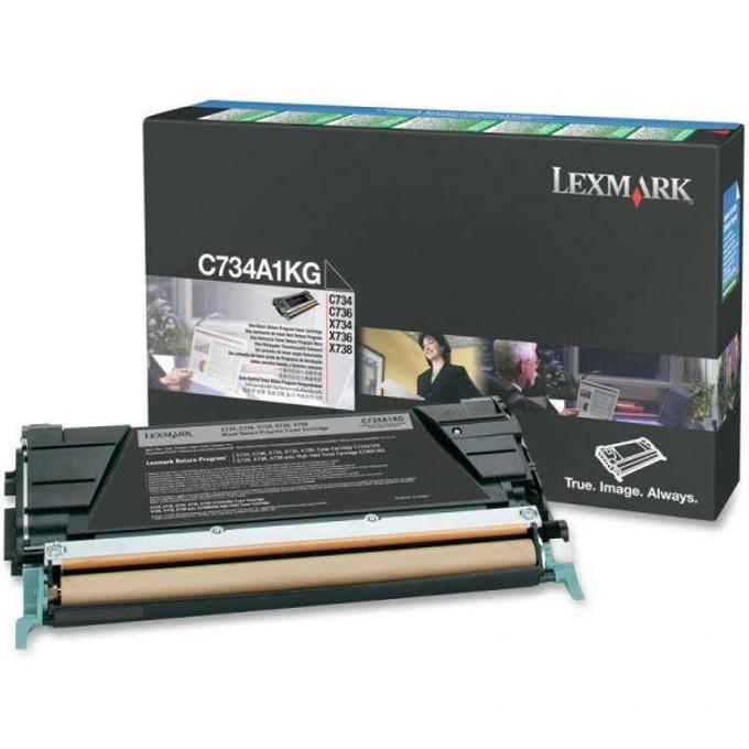 КАСЕТА ЗА LEXMARK OPTRA C734/C736/X734/X736/X738 - Black - P№ C734A1KG - заб.: 8000k image