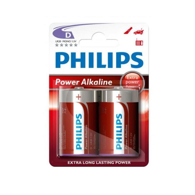 Батерии алкални Рhilips Power LR20(D), 1.5V, 2 бр. image