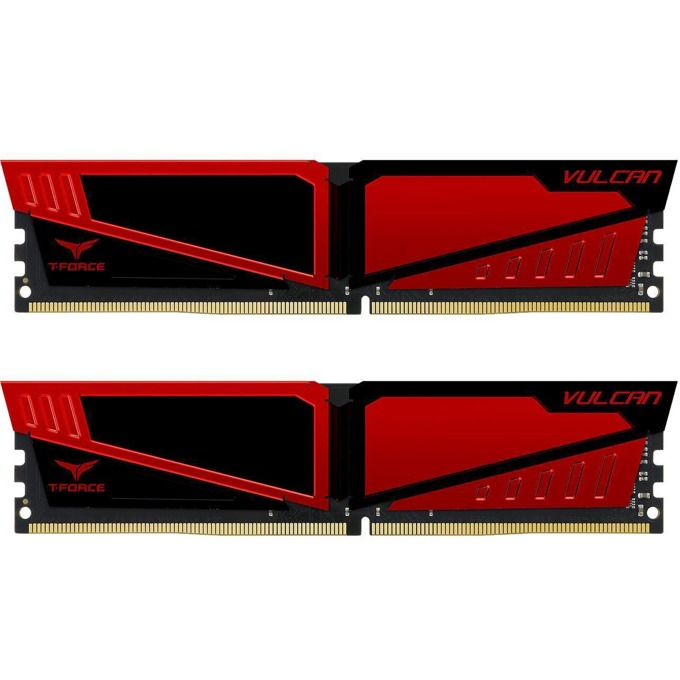 16GB (2x8GB) DDR4 2666MHz, Team Group T-Force Vulcan, TLRED416G2666HC15BDC01, 1.2V image
