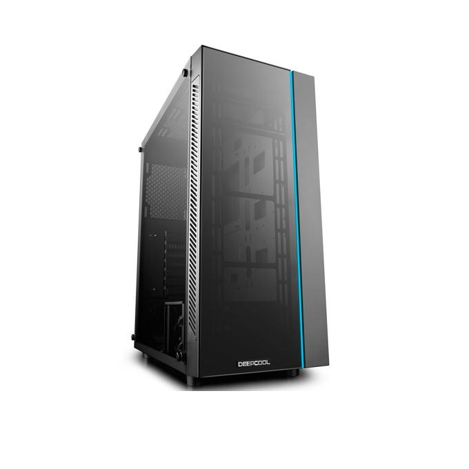 Кутия DeepCool MATREXX 55 RGB, Mini-ITX, Micro-ATX, ATX, E-ATX, 1x USB 3.0/ 2x USB 2.0, RGB, черна, без захранване image