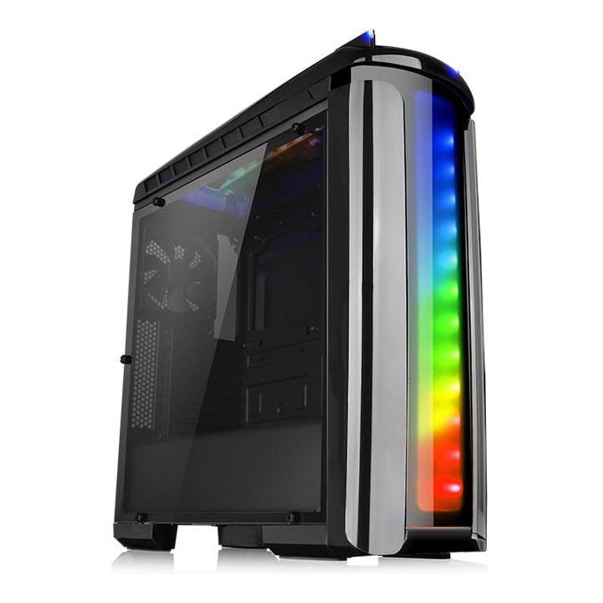 Кутия Thermaltake Versa C22 RGB Black CA-1G9-00M1WN-00, ATX, 2x USB 3.0 2x USB 2.0, Audio In/Out, LED Control, черна, без захранване image