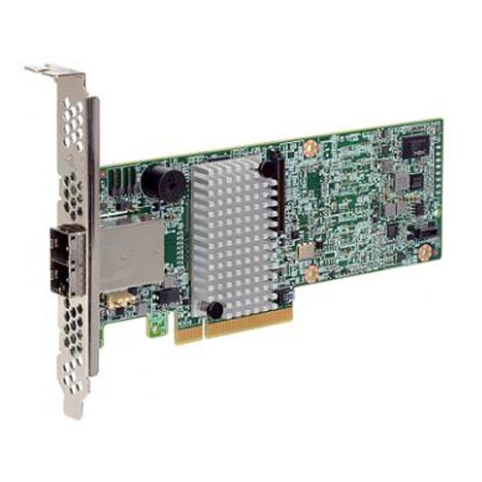 RAID контролер LSI MegaRAID SAS 9380-8e, PCI-E 3.0 към mini-SAS (SFF8644), SATA/SAS 12Gb/s, 2 портов, 1GB RAM, поддържа RAID 0, 1, 5, 6, 10, 50, and 60 image