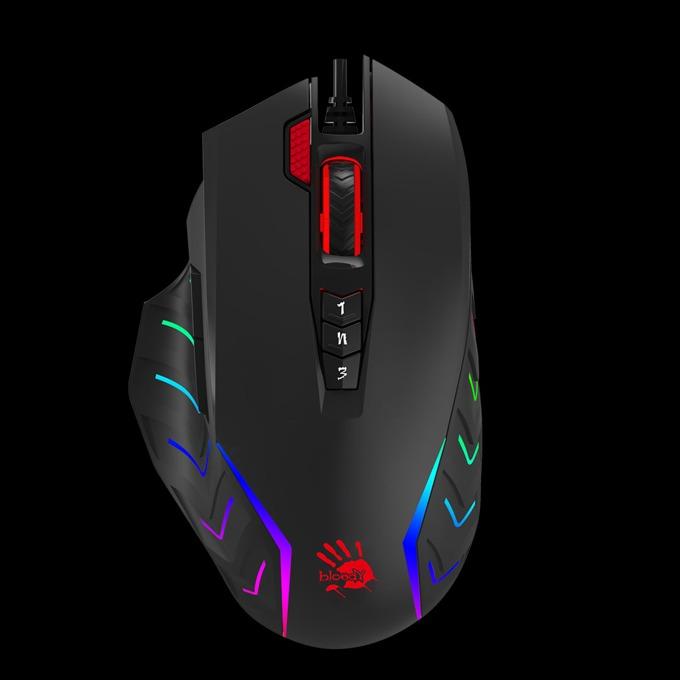 Мишка A4Tech Bloody J95, оптична(5000 dpi), гейминг, RGB подсветка, USB, черна image