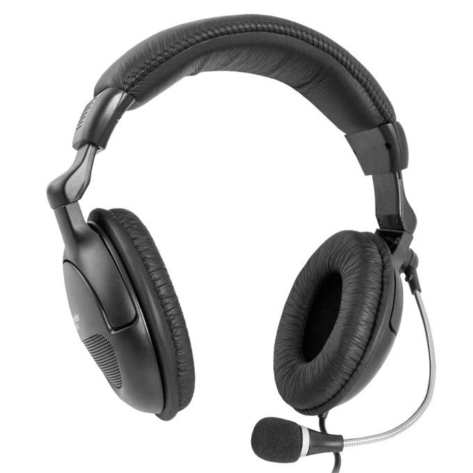 Слушалки Defender Orpheus HN-898, микрофон, 3 м. кабел, черни image