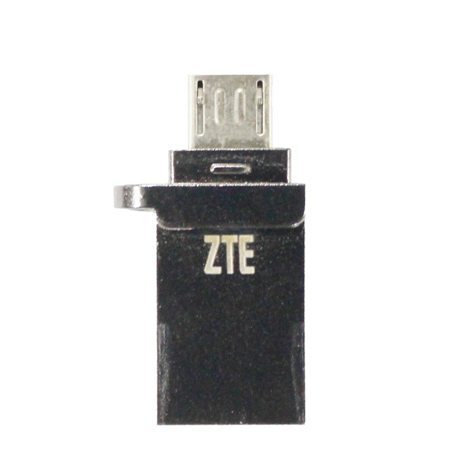 Памет 16GB USB Flash Drive, ZTE XUD001, USB 2.0/micro USB, черна image