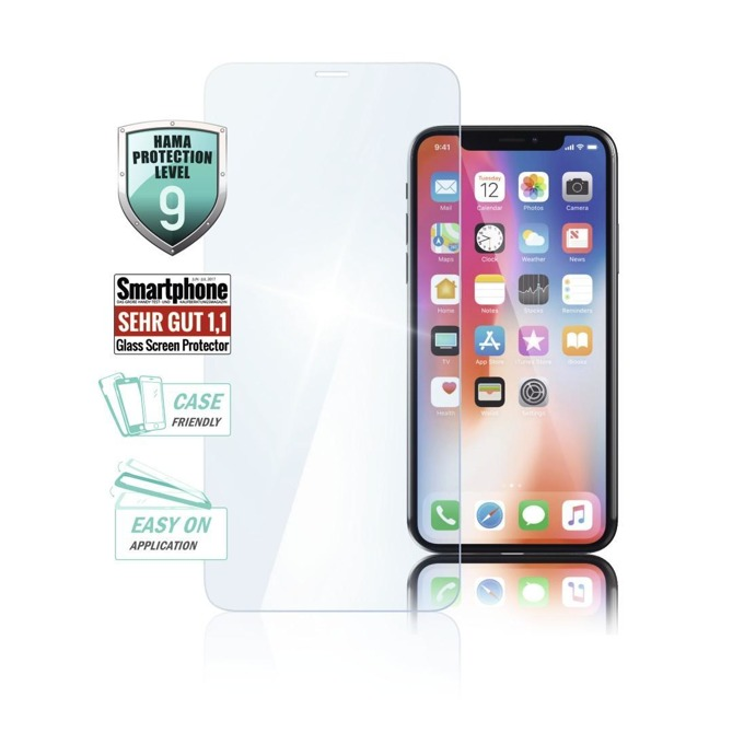 Протектор от закалено стъкло /Tempered Glass/ Hama Premium Crystal Glass за Apple iPhone XS Max, Nano Tech покритие image
