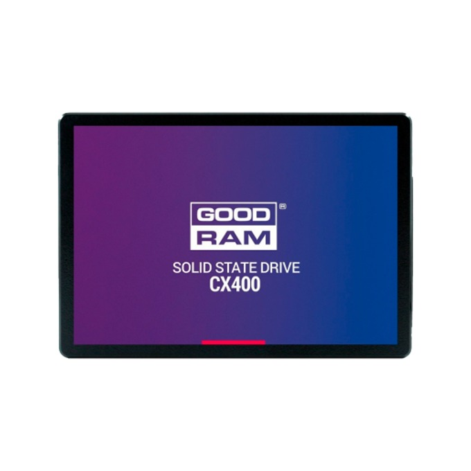 "SSD 256GB Goodram CX400, SATA 6 Gb/s, 2.5"" (6.35cm), скорост на четене 550 MB/s, скорост на запис 490 MB/s image"