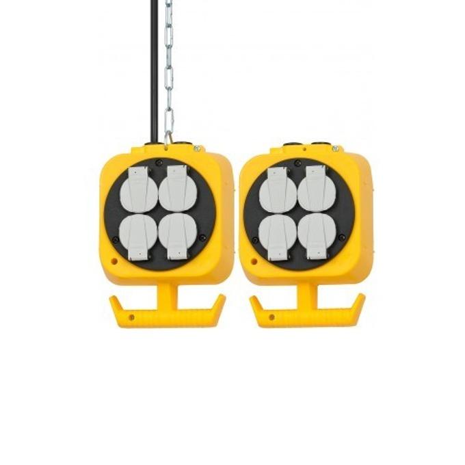 Разклонител Brennenstuhl Energy Cube, Plug: 230 V, 2 x 4 230 V, самозатварящи се капаци срещу прах и мръсотия, 5 m, жълт image