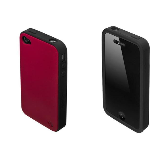 Страничен протектор с гръб Samsonite Bi-tone iPhone 4S, червен/черен image