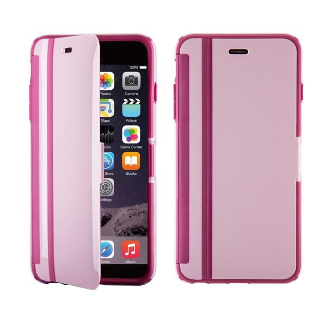 Страничен протектор с гръб Speck за iPhone 6S, с капаче, розов image