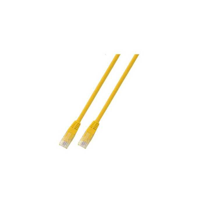 Пач кабел UTP EFB Elektronik, 1m, Cat 5E, пач-кабел, жълт image