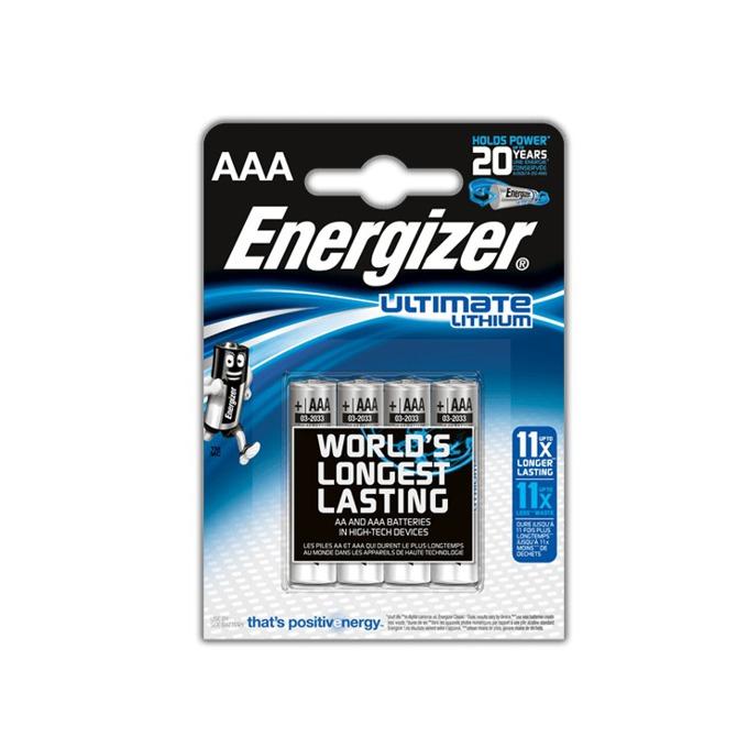 Батерия литиева Energizer Ultimate Lithium, AAA, L92, 1.5V, 4бр. image