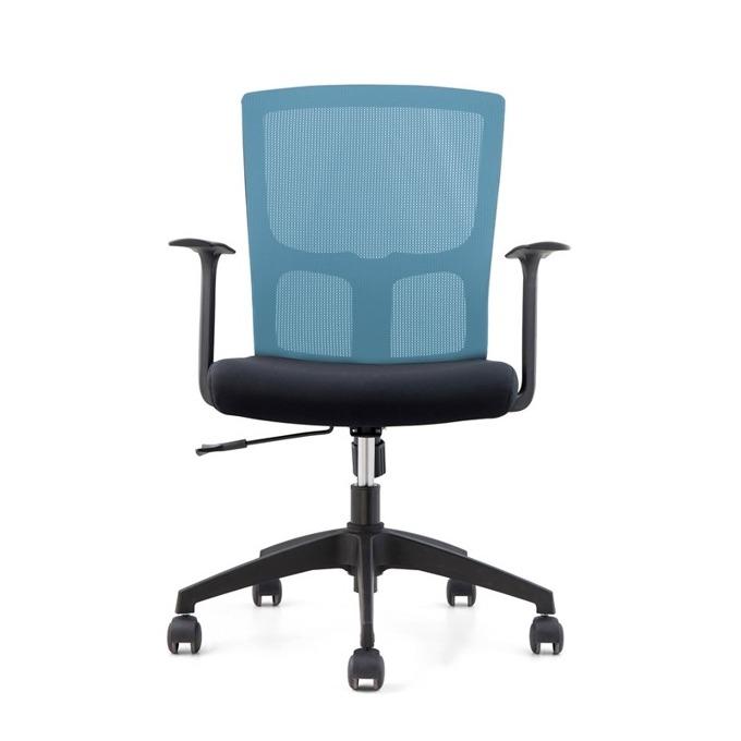 Работен стол RFG Siena W, дамаска и меш, черна седалка, синя облегалка, 2 броя в комплект image