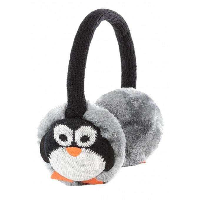 Слушалки KitSound Earmuffs Penguin, черно-сиви, с ушанки image