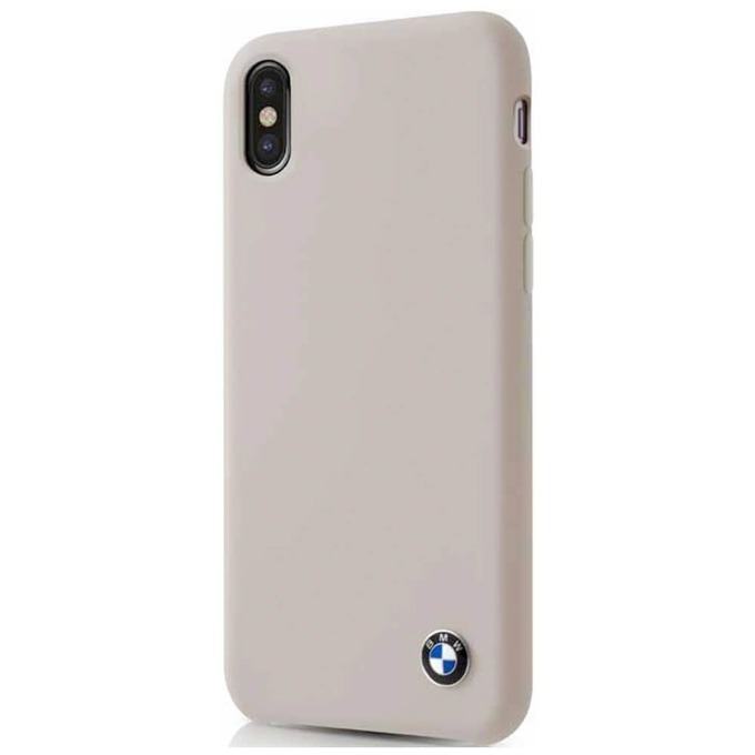 Калъф Apple iPhone X, страничен протектор с гръб, термополиуретанов(TPU), BMW Silicone Case, сив image