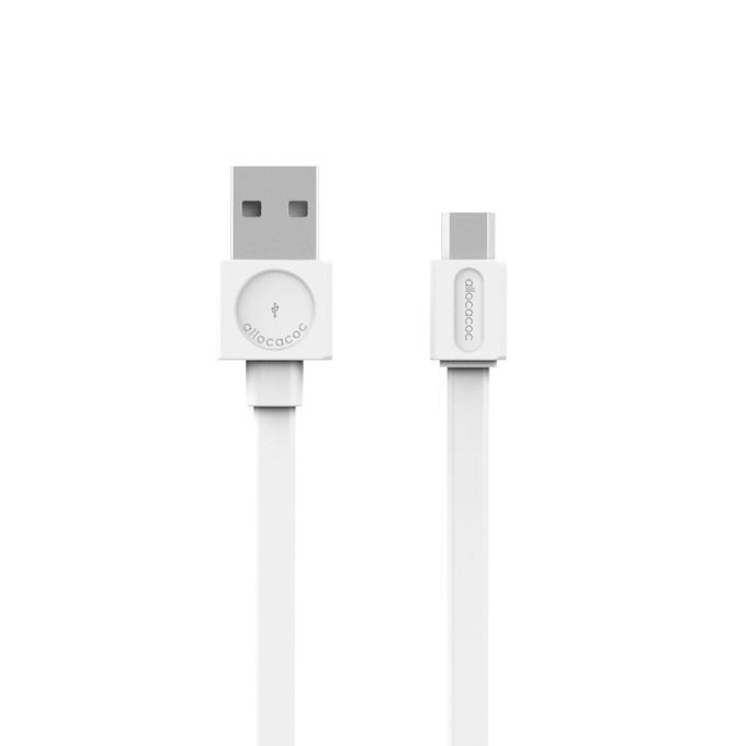 Кабел Allocacoc 10452WT, от USB(м) към microUSB(м), 1.5m, бял image