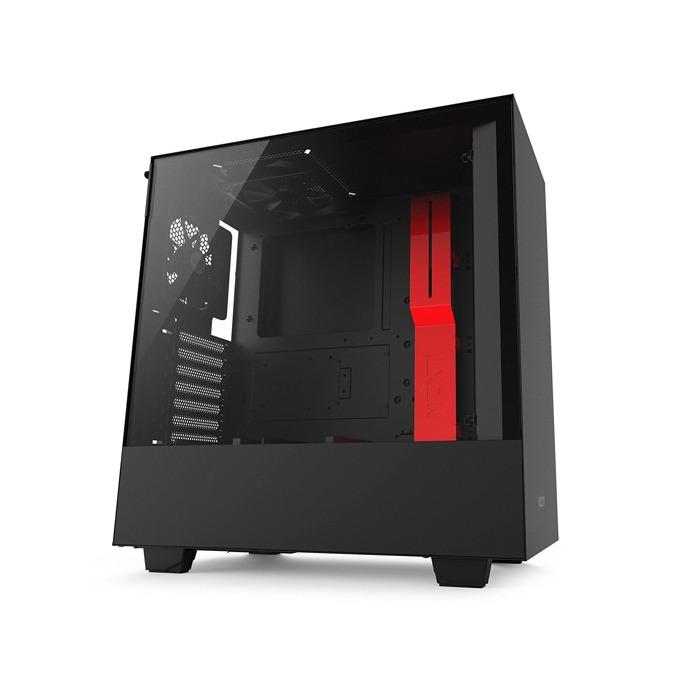 Кутия NZXT H500CA-H500B-BR, ATX/mATX/mini-ITX, 2x USB 3.1 Gen1, страничен прозорец от закалено стъкло, черна, без захранване image