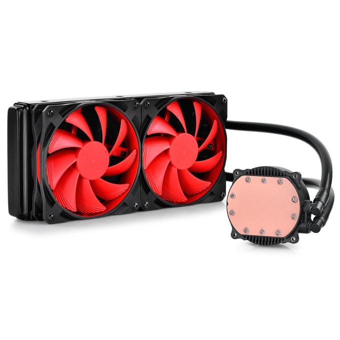Водно охлаждане DeepCool Maelstorm 240, съвместимост с LGA 1156/1155/1150/1151, AMD FM2/FM1/AM2/AM2+/AM3/AM3+/1366/2011 image