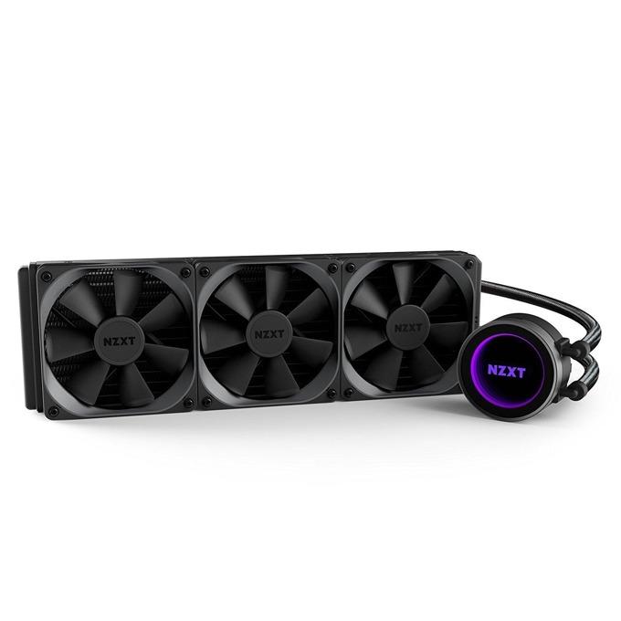 Охладител за процесор NZXT Kraken X72 (360mm), водно охлаждане, съвместим с Intel(1151, 1150, 1155, 1156, 1366, 2011, 2011-3, 2066) и AMD(AM4, FM2+, FM2, FM1, AM3+, AM3, AM2+, AM2) image