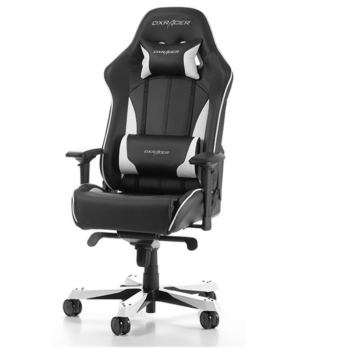 Геймърски стол DXRacer King OH/KS57/NW, черен/бял image