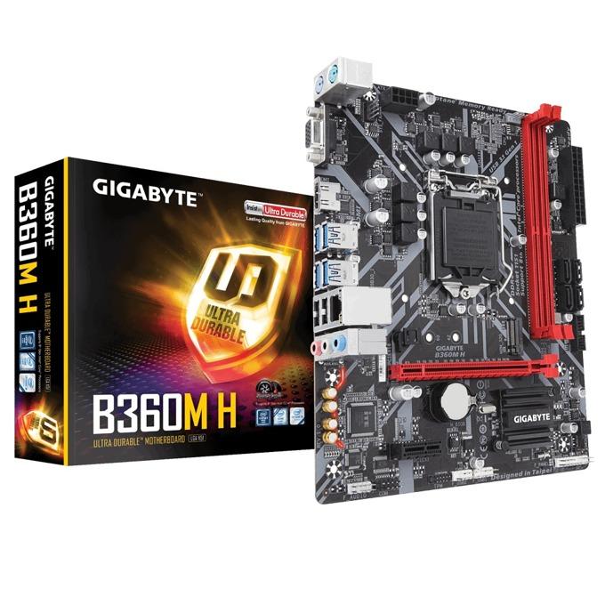 Дънна платка GIGABYTE B360M-H, B360, LGA1151, DDR4, PCI-E (HDMI&VGA), 4x SATA 6Gb/s, 1x M.2 Socket, 4x USB 3.1 Gen 1, Micro ATX image
